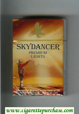 Skydancer Premium Lights cigarettes hard box