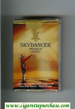 Skydancer Premium Lights cigarettes soft box