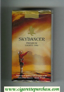 Skydancer Premium Lights 100s cigarettes soft box