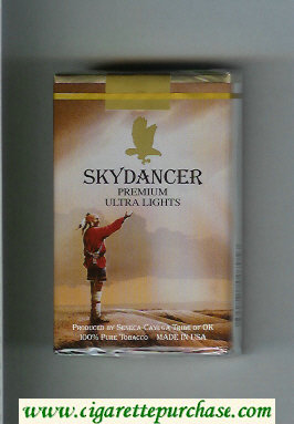 Skydancer Premium Ultra Lights cigarettes soft box