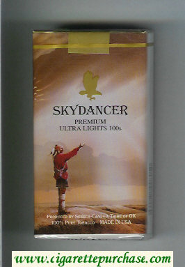 Discount Skydancer Premium Ultra Lights 100s cigarettes soft box