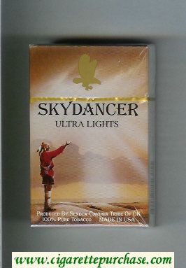 Skydancer Ultra Lights cigarettes hard box