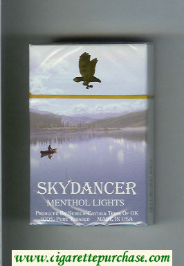Skydancer Menthol Lights cigarettes hard box