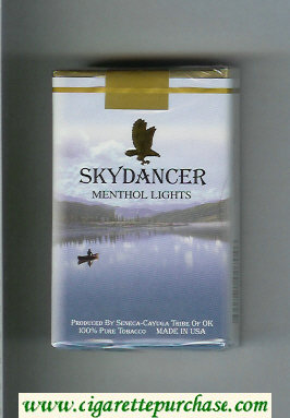Skydancer Menthol Lights cigarettes soft box
