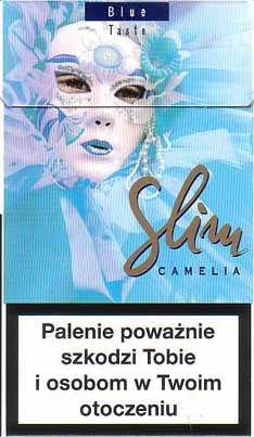 Slim Camelia Blue Taste 100s cigarettes hard box