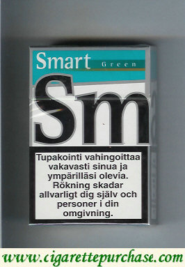 Smart Green cigarettes Menthol Taste hard box
