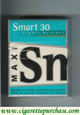 Smart 30 Lights Menthol Maxi cigarettes hard box
