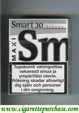 Discount Smart 30 Silver Maxi cigarettes Fine Taste hard box