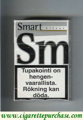 Discount Smart Silver cigarettes Fine Taste hard box