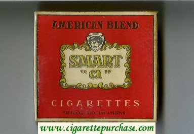 Smart 'a' American Blend cigarettes wide flat hard box