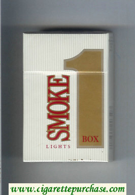 Smoke 1 Lights Box cigarettes hard box
