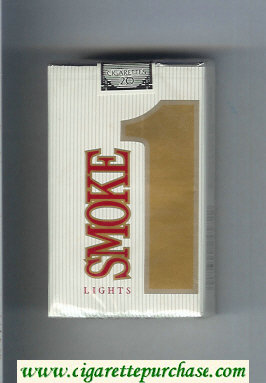Smoke 1 Lights cigarettes soft box