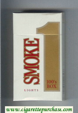 Smoke 1 Lights 100s Box cigarettes hard box