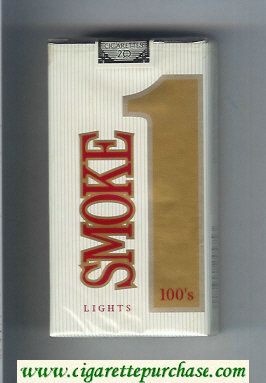 Smoke 1 Lights 100s cigarettes soft box
