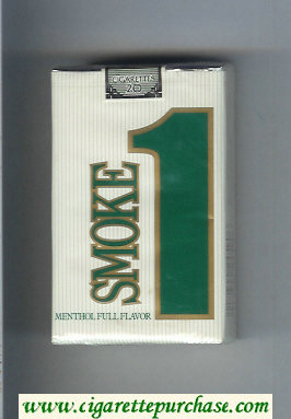 Smoke 1 Menthol Full Flavor cigarettes soft box