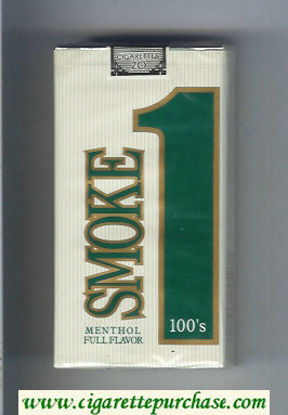 Smoke 1 Menthol Full Flavor 100s cigarettes soft box