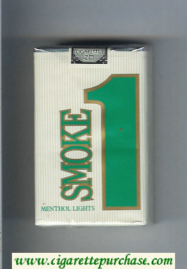 Smoke 1 Menthol Lights cigarettes soft box