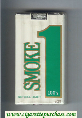 Smoke 1 Menthol Lights 100s cigarettes soft box