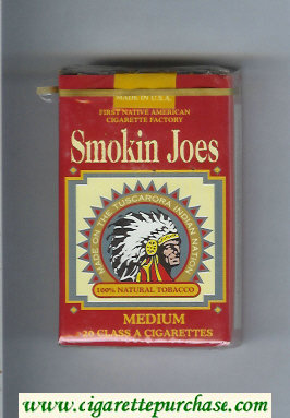 Smokin Joes Medium cigarettes soft box