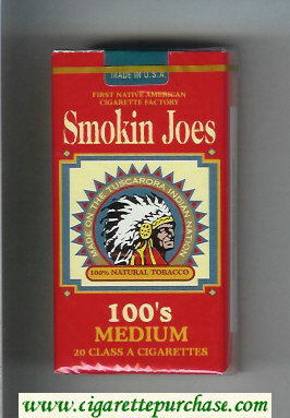 Smokin Joes 100s Medium cigarettes soft box