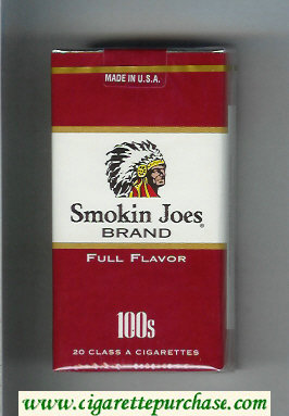 Smokin Joes Brand Full Flavor 100s cigarettes soft box