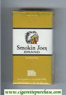 Smokin Joes Brand Lights 100s cigarettes soft box