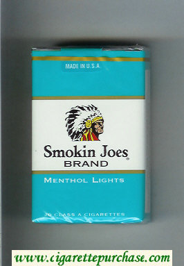 Smokin Joes Brand Menthol Lights cigarettes soft box