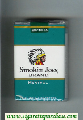 Smokin Joes Brand Menthol cigarettes soft box