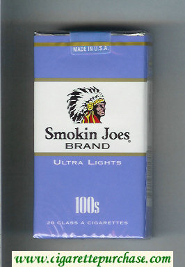 Smokin Joes Brand Ultra Lights 100s cigarettes soft box