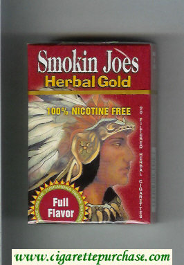 Smokin Joes Herbal Gold Full Flavor cigarettes hard box