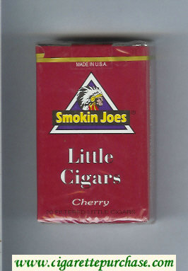 Smokin Joes Little Cigars Cherry cigarettes soft box