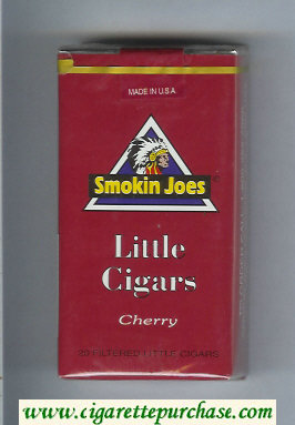 Smokin Joes Little Cigars Cherry 100s cigarettes soft box