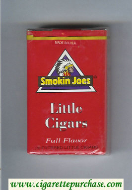 Smokin Joes Little Cigars Full Flavor cigarettes soft box