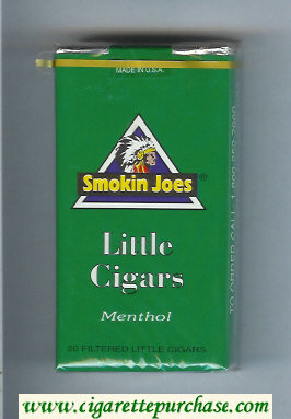 Smokin Joes Little Cigars Menthol 100s cigarettes soft box