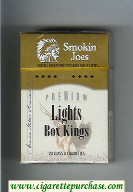 Smokin Joes Premium Lights Box Kings cigarettes hard box