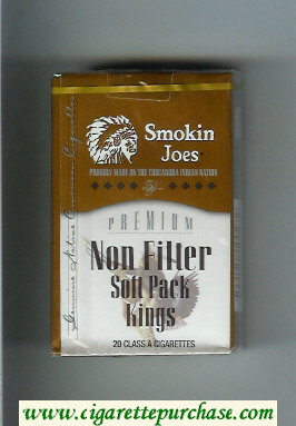 Smokin Joes Premium Non Filter Soft Pack Kings cigarettes soft box