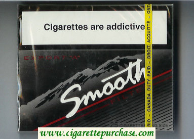 Smooth Export 'A' Filter 25 cigarettes wide flat hard box