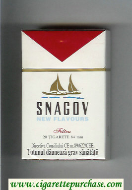 Snagov New Flavours cigarettes hard box