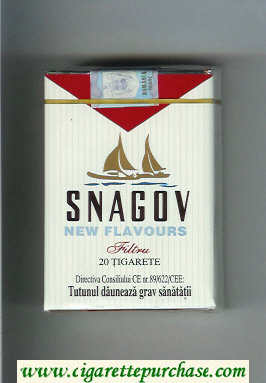 Snagov New Flavours cigarettes soft box