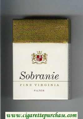 Sobranie Fine Virginia Filter cigarettes hard box