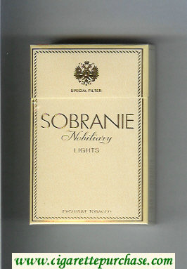 Sobranie Nobiliary Lights cigarettes hard box
