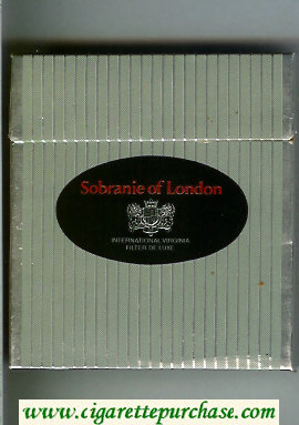 Sobranie of London International Virginia Filter De Luxe 100s cigarettes wide flat hard box