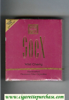 Soex Wild Cherry cigarettes wide flat hard box