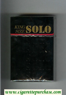 Solo cigarettes black hard box
