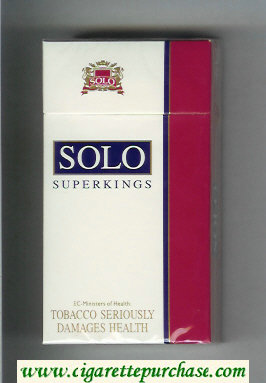 Solo 100s cigarettes white and red hard box