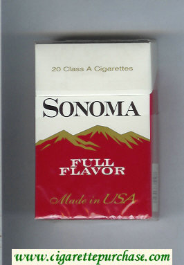 Discount Sonoma Full Flavor cigarettes hard box