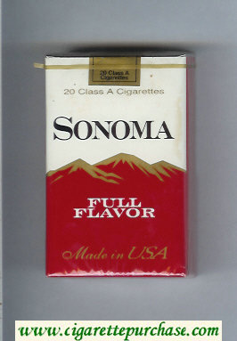 Discount Sonoma Full Flavor cigarettes soft box