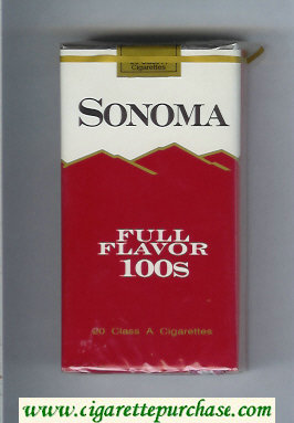 Discount Sonoma Full Flavor 100s cigarettes soft box