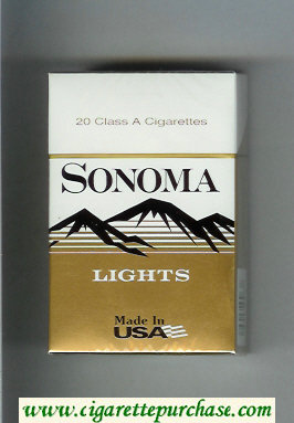 Discount Sonoma Lights cigarettes hard box