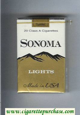 Discount Sonoma Lights cigarettes soft box